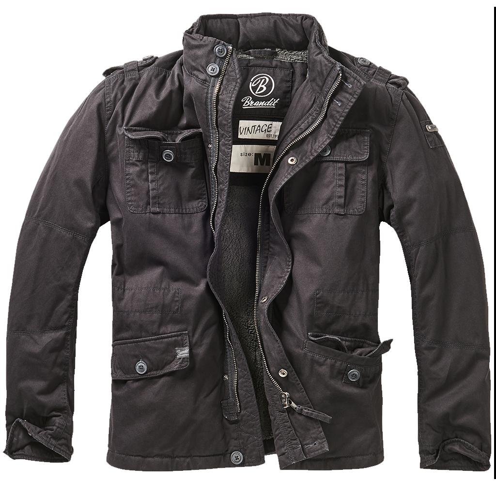 Brandit Britannia Winter Jacket Black Winter Jackets